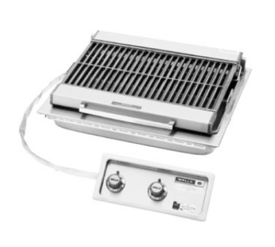 Wells B-406 240 25-in Built In Radiant Charbroiler w/ Cast Iron Grate, 240/3 V