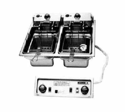 Wells F-686 30-lb Drop In Dual Fryer w/ Basket Lifts, Thermostatic, 208/240/3V