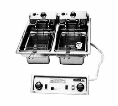 Wells F-886 208 30-lb Drop In Dual Fryer w/ Basket Lifts & Safety Te