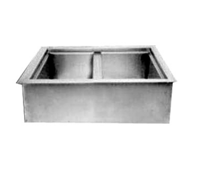 Wells ICP-200 Drop In Iced Cold Pan w/ Drain, Holds 2-Pans, Insulated