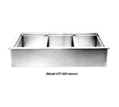 Wells ICP-600 Drop In Iced Cold Pan w/ Drain, Holds 6-Pans, Insulated