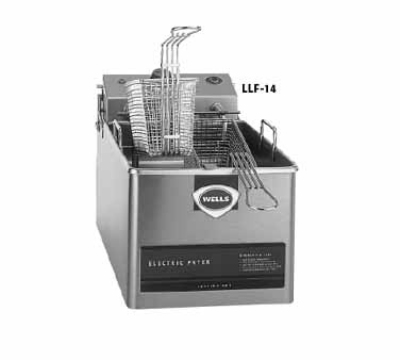 Wells LLF-14 120 14-lb Fryer w/ Dual Baskets & Thermostatic Controls, 120 V