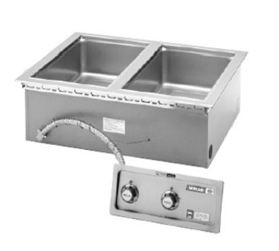 Wells MOD-200TD Built In Food Warmer w/ Drains, Thermostatic, 2-Pan, 208/240/1 V