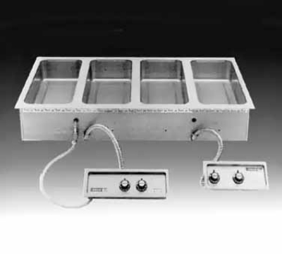 Wells MOD-400TDM/AF Built In Food Warmer, Manifold Drain, Auto Fill, 4-Pan, 208/240/3V