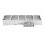 Wells MOD-500D Built In Food Warmer w/ Drain, Infinite, 5-Pan, 208/240/3 V