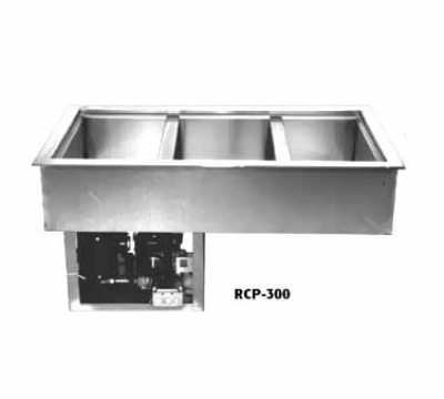 Wells RCP-300 Drop In Mechanical Cold Pan w/ Drain, 3-Pan, Insulated