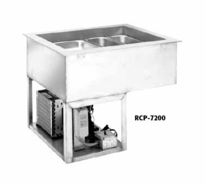 Wells RCP-7300 Drop In Mechanical Cold Pan w/ Drain, 3-Pan, Insulated, NSF