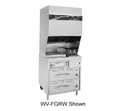 Wells WV-FG Electric Fryer with Griddle - (1) 15-lb. Vat Floor Model, 208v/3ph