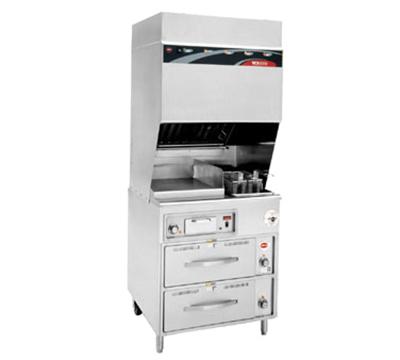 Wells WV-FGRW Electric Fryer with Griddle - (1) 15-lb. Vat Floor Model, 240v/3ph