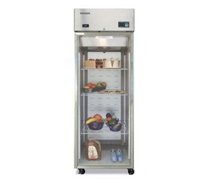 "Hoshizaki CR1B-FG 27.5"" Single Section Reach-In Refrigerator, Glass Door, 115v"