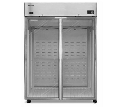 Hoshizaki CR2B-FG Reach-In Refrigerator w/ Glass Door, Stainless, 51-cu ft