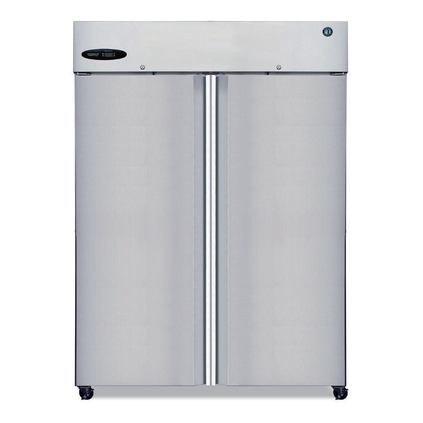 "Hoshizaki CR2B-FS 56"" Two Section Reach-In Refrigerator, Solid Door, 115v"