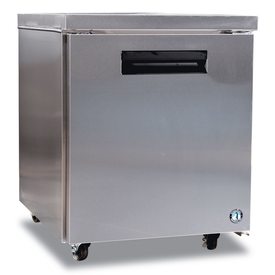 Hoshizaki CRMF27 Reach-In Undercounter Freezer w/ Solid Door, Stainless, 7.2-cu ft