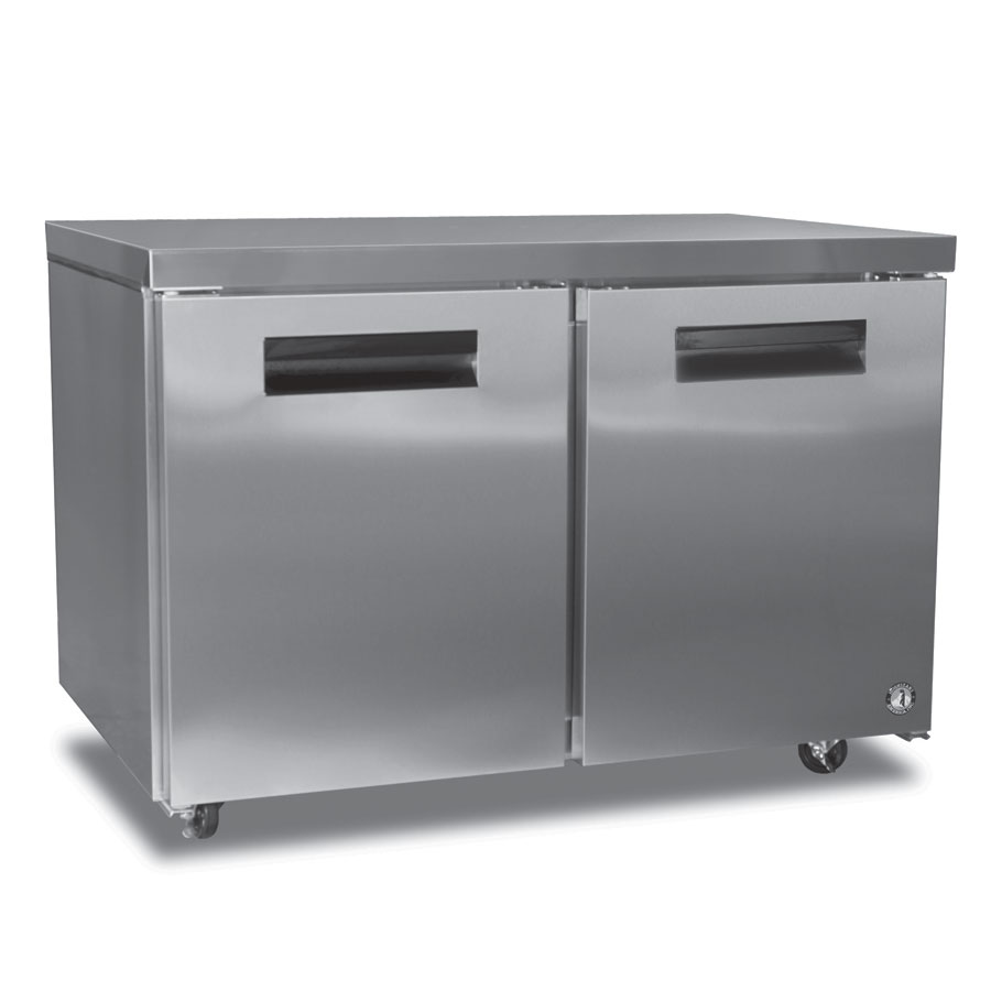 Hoshizaki CRMF48 Reach-In Undercounter Freezer w/ Solid Door, Stainless, 13.66-cu ft