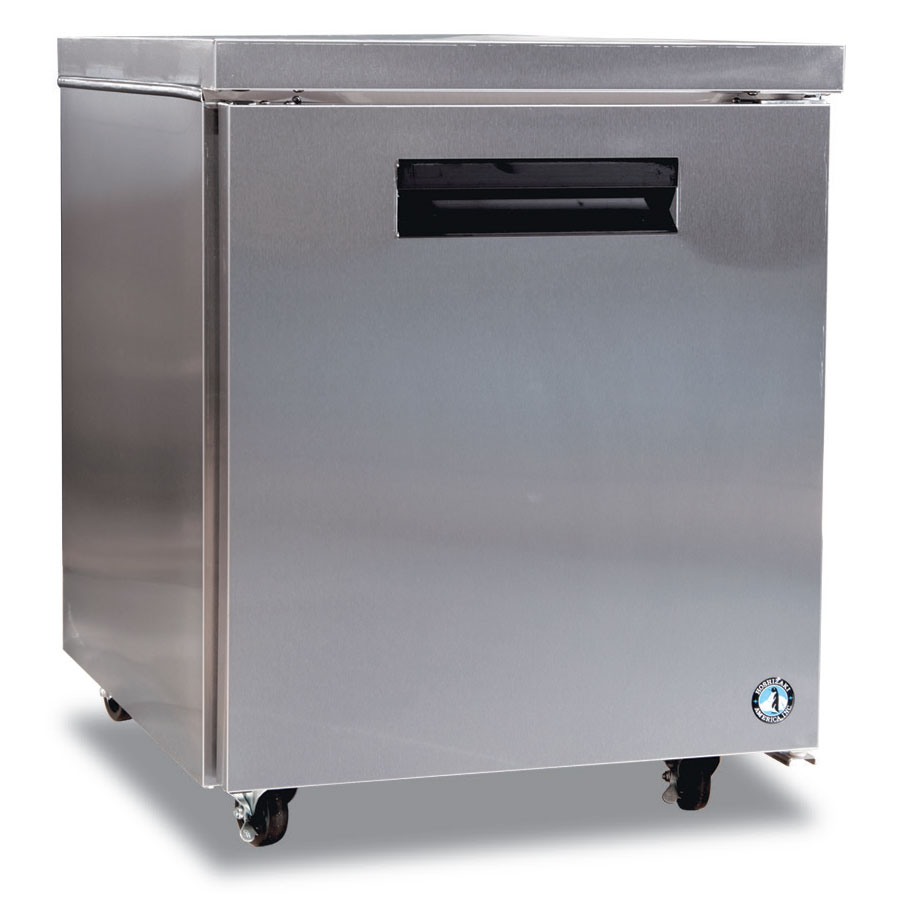 Hoshizaki CRMR27 Reach-In Undercounter Refrigerator w/ Solid Door, Stainless, 7.2-cu ft