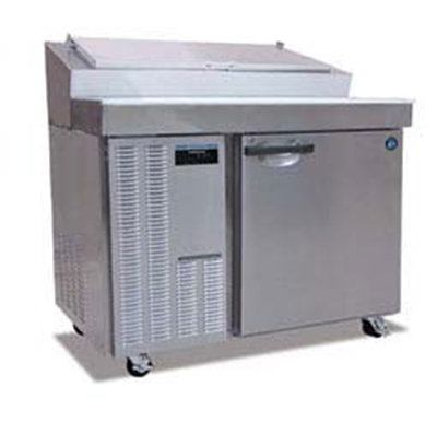 Hoshizaki HPR46A Refrigerated Prep Table w/ (12) 1/6-Pan Capacity & Solid Door, Stainless
