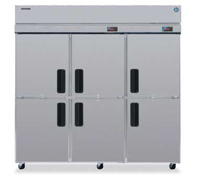 Hoshizaki RFH3-SSB-HD 70.3-cu ft Three Section Commercial Refrigerator Freezer - Solid Doors, Top Compressor, 115v