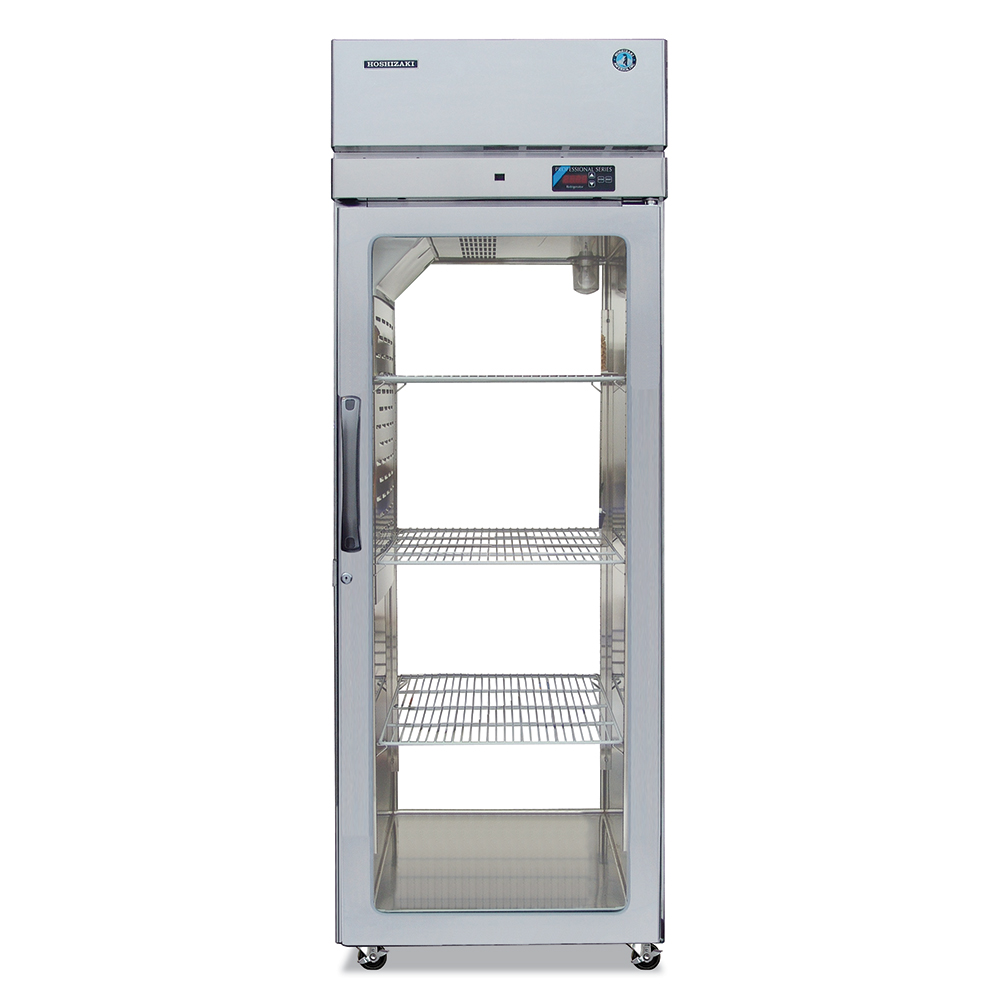 Hoshizaki PTR1SSE-FGFG Pass-Thru Refrigerator w/ Front & Back Glass Full Doors, Stainless