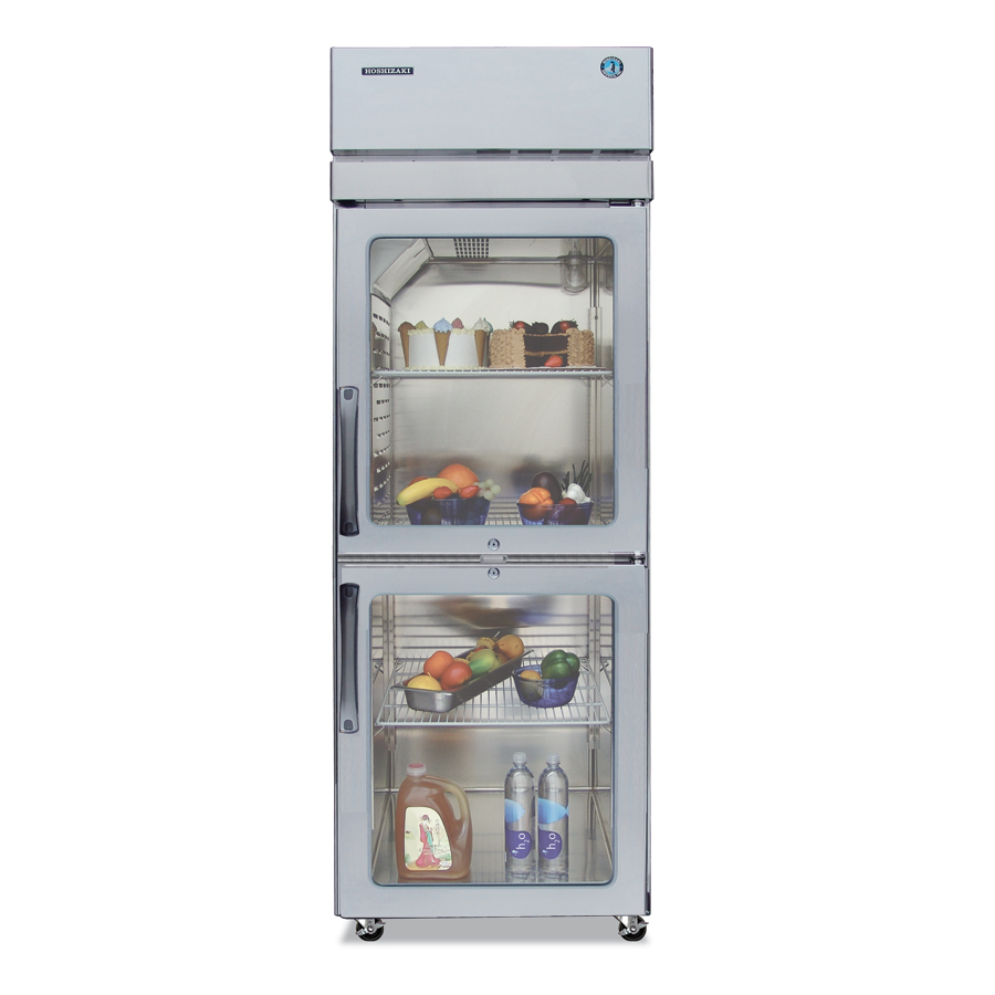 Hoshizaki PTR1SSE-HGHS Pass-Thru Refrigerator w/ Front Glass & Back Solid Half Doors, Stainless