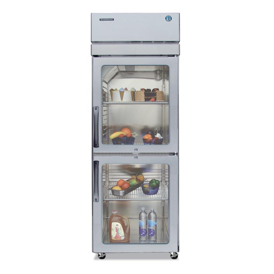 """Hoshizaki PTR1SSE-HGHS 27.5"""" Single Section Pass-Thru Refrigerator, Glass Door, 115v"""