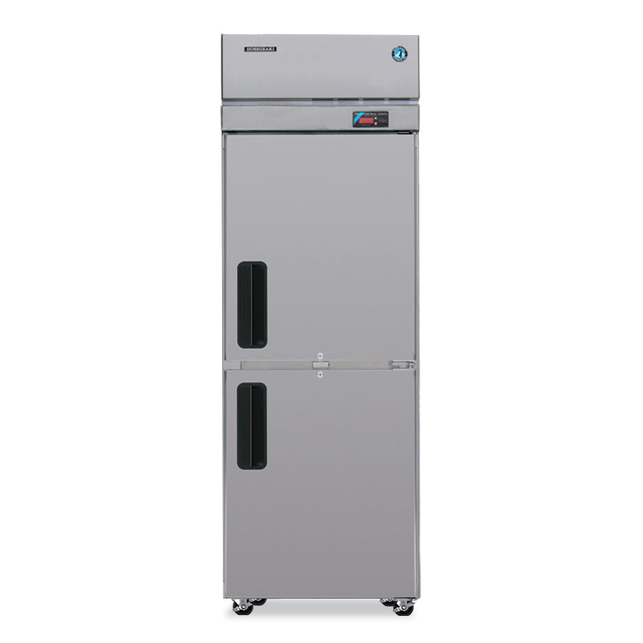 Hoshizaki PTR1SSE-HSHS Pass-Thru Refrigerator w/ Front & Back Solid Half Doors, Stainless