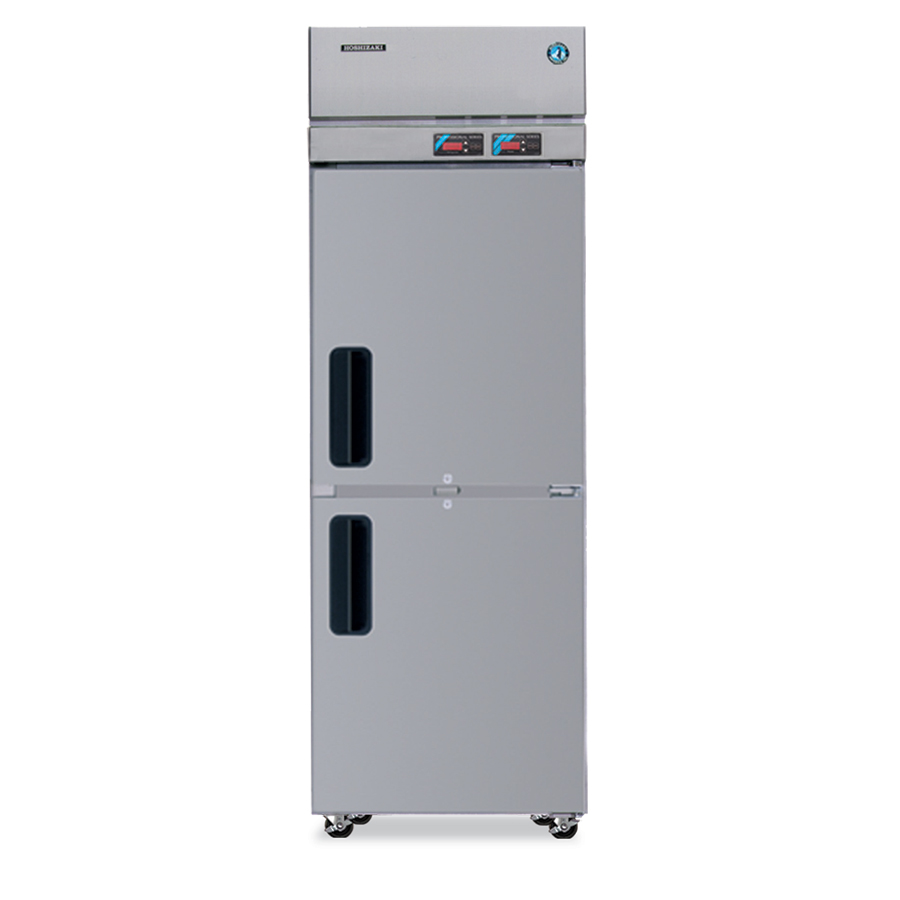 Hoshizaki RFH1-SSB-HS Reach-In Top Refrigerator & Bottom Freezer, 4-in Casters, Stainless