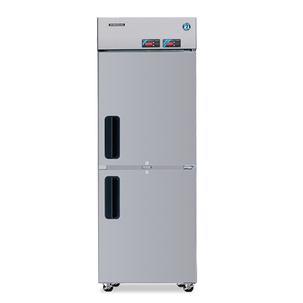 Hoshizaki RFH1-SSB-HSE Reach-In Top Refrigerator & Bottom Freezer, 3-in Casters, Stainless