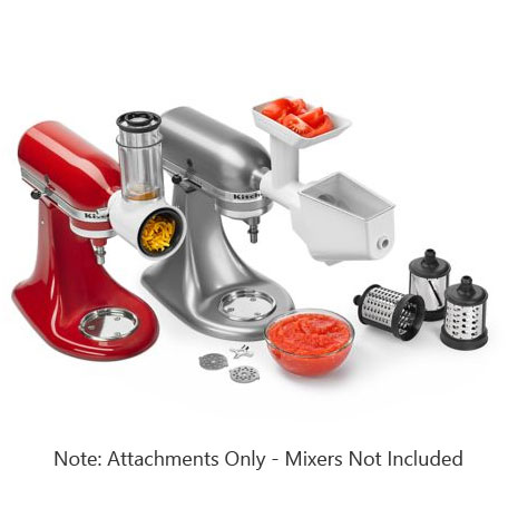 KitchenAid FPPA Mixer Attachment Pack - Rotor Slicer, Food Grinder