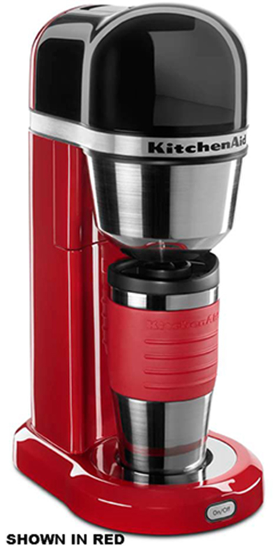 KitchenAid KCM0402ER 18-oz Personal Coffee Maker - Insulated Mug, Empire Red