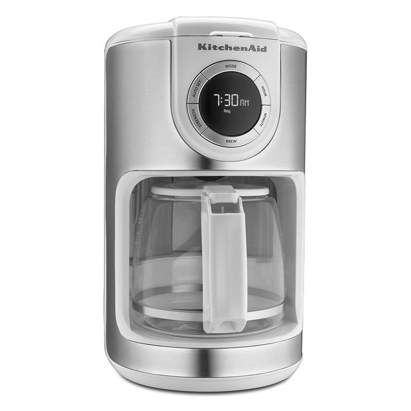 KitchenAid KCM1202WH 12-cup Carafe Coffee Maker - White