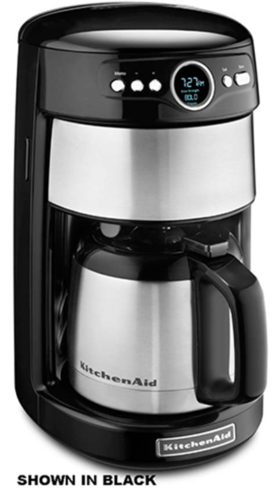 KitchenAid KCM1203OB 12-Cup Thermal Carafe Coffee Maker w/ Digital Display, Onyx Black