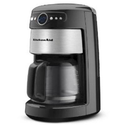 KitchenAid KCM222OB 14-Cup Programmable Coffee Maker w/ Filter, Onyx Black