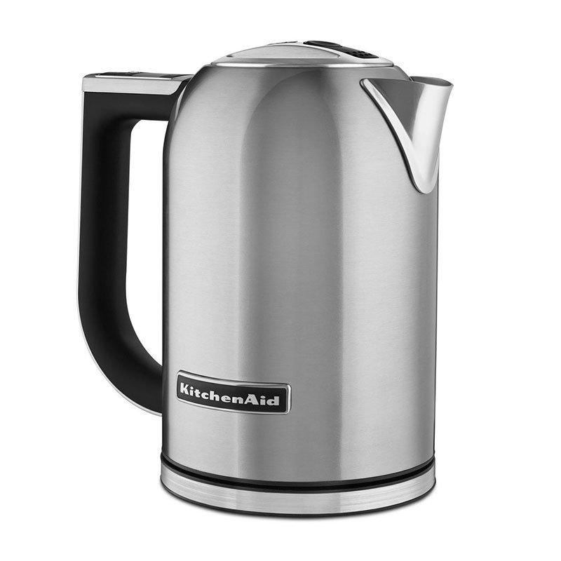 KitchenAid KEK1722SX 1.7-L Electric Kettle - Measurement Markings, Digital Temp Display, Stainless