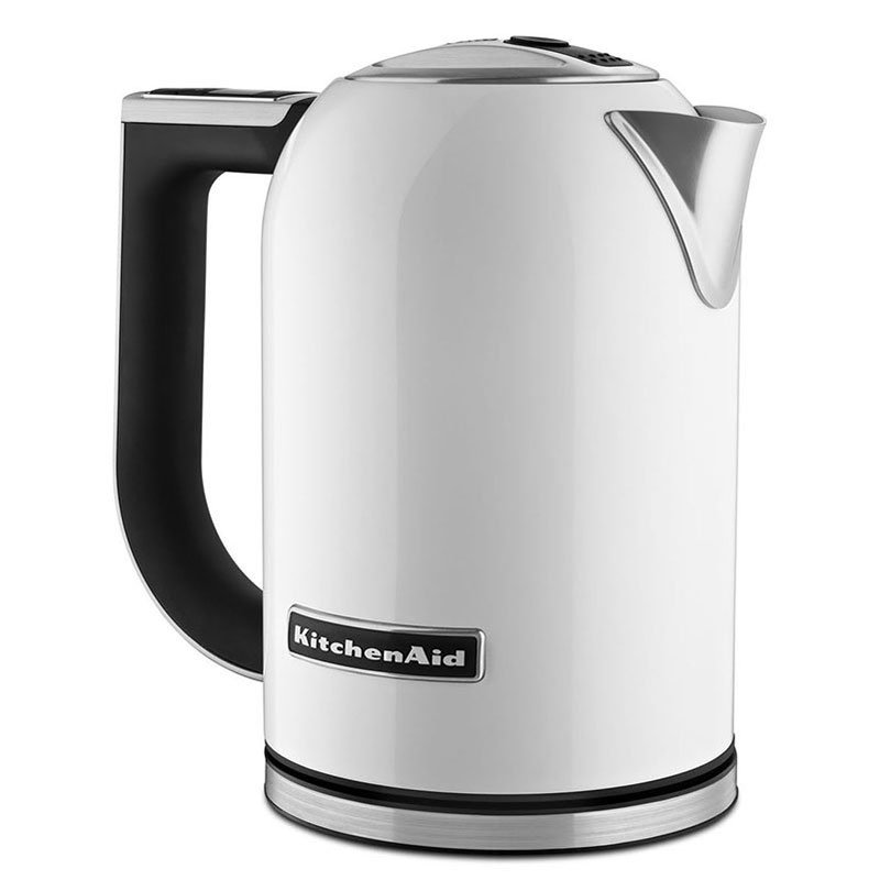 KitchenAid KEK1722WH 1.7-L Electric Kettle - Measurement Markings, Digital Temp Display, White