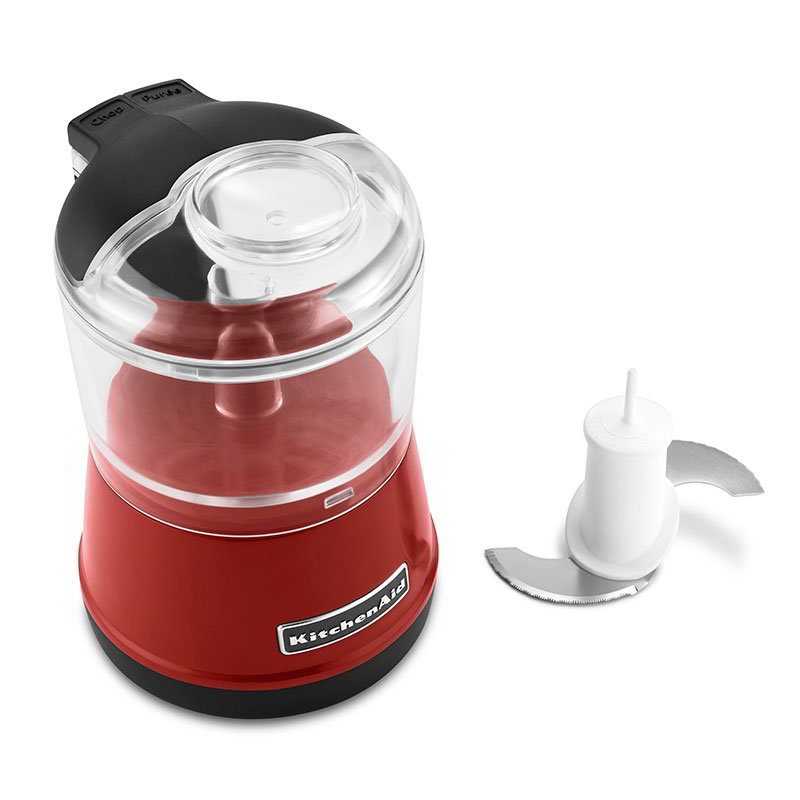 KitchenAid KFC3511ER 3.5-Cup Food Chopper w/ BPA-Free Bowl, 2-Speed, Empire Red