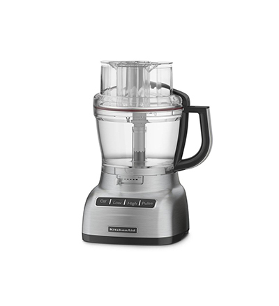 KitchenAid KFP1333BD 13-cup Food Processor - Feed Tube, 4-cup Bowl, Discs, Blades, Chrome