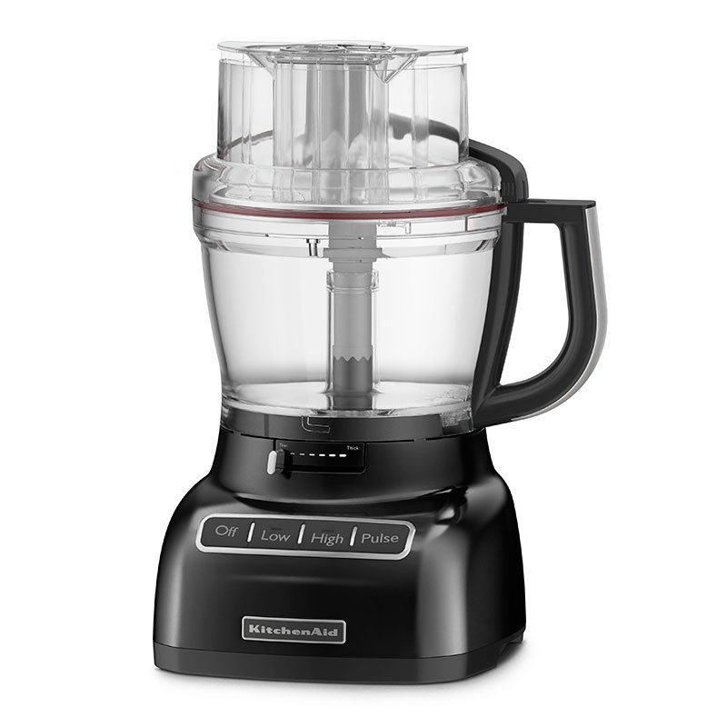 KitchenAid KFP1333OB 13-Cup Food Processor w/ BPA-Free Work Bowl, Onyx Black