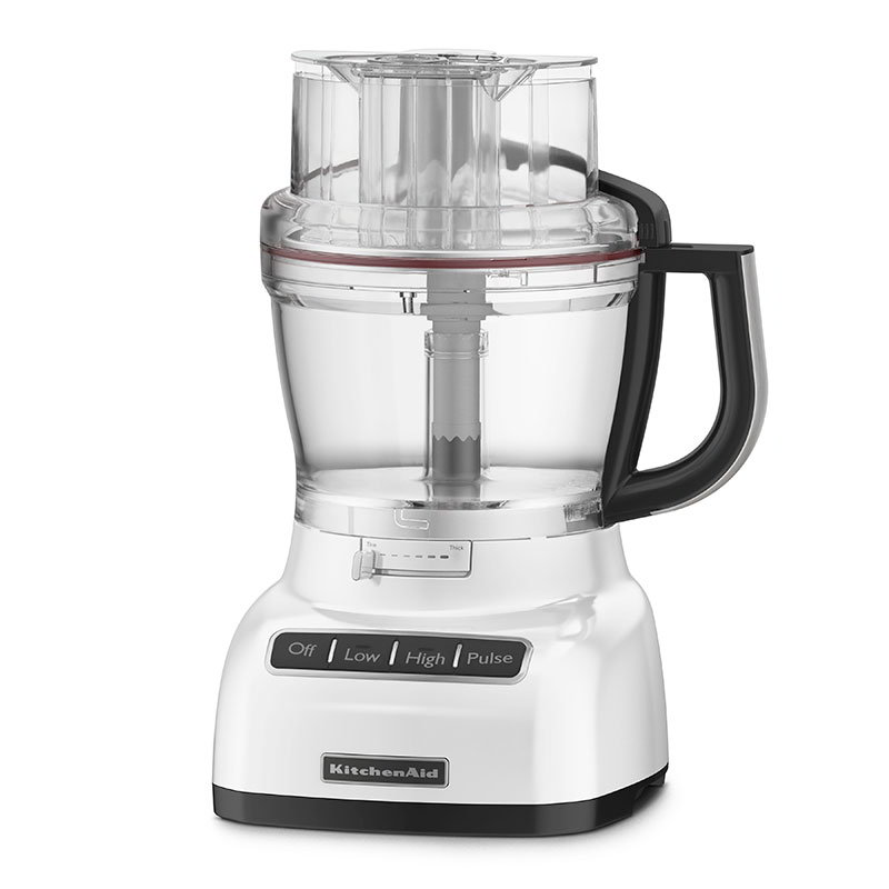 KitchenAid KFP1333WH 13-Cup Food Processor w/ BPA-Free Work Bowl, White