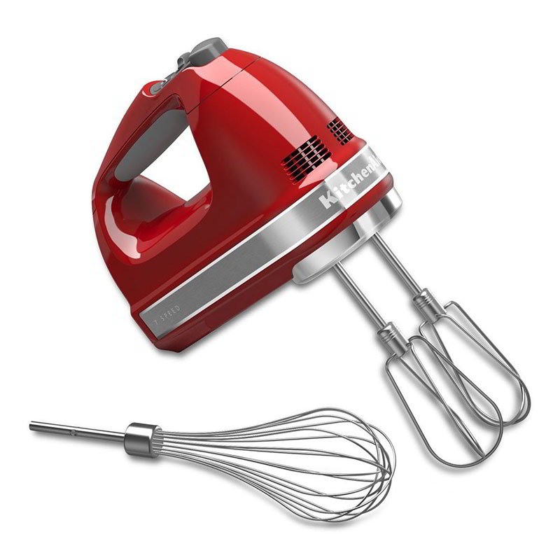 KitchenAid KHM7210ER 7-Speed Hand Mixer w/ Soft Start, Grip Handle &