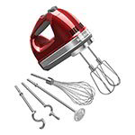 KitchenAid KHM926CA 9-Speed Hand Mixer w/ Grip Handle & Accessories Set, Candy Apple Red