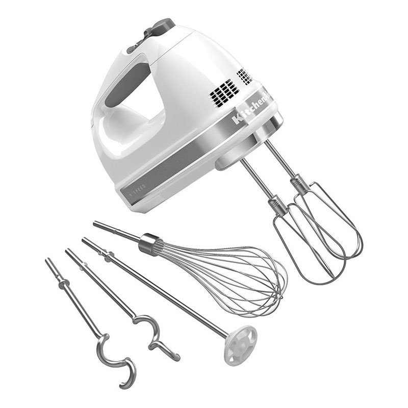 KitchenAid KHM926WH 9-Speed Hand Mixer w/ Soft Start, Grip Han