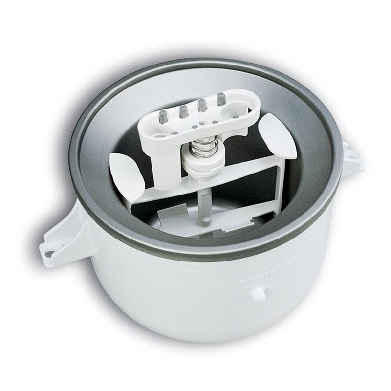 KitchenAid KICA0WH Ice Cream Maker Attachment for Most KitchenAid Models, Wh