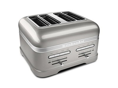 KitchenAid KMT4203SR Pro Line 4-Slice Automatic Toaster - Sugar Pearl Silver