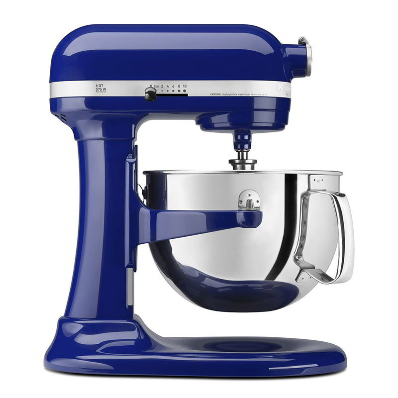 KitchenAid KP26M1XBU Professional 600 Series Mixer With Pouring Shield, 6 Qt,