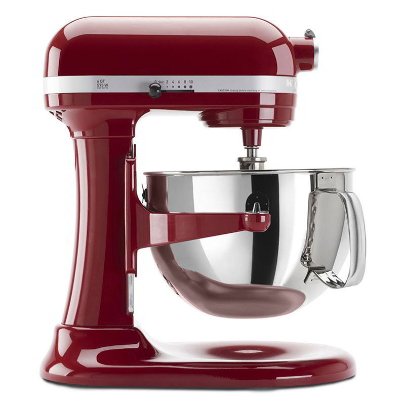 KitchenAid KP26M1XER Professional 600 Series Mixer With Pouring Shield, 6 Qt, Empire Red