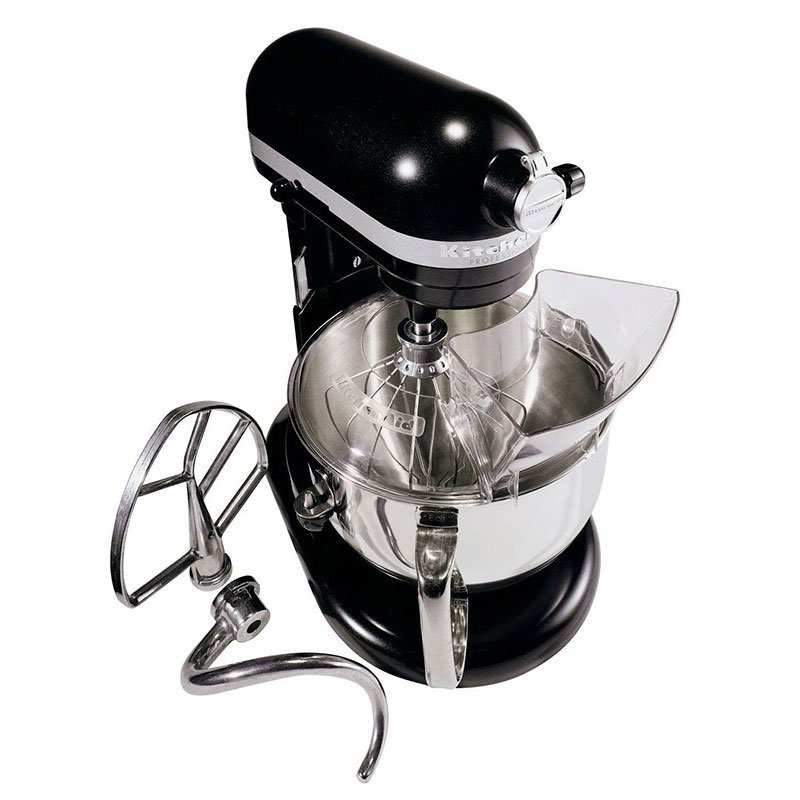 KitchenAid KP26M1XLC Mixer w/ Pouring Shield, 6-Quart, Licorice Black