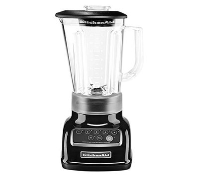 KitchenAid KSB1570 56-oz 5-Speed Countertop Blender - Control Panel w/LED Lights, Onyx Black