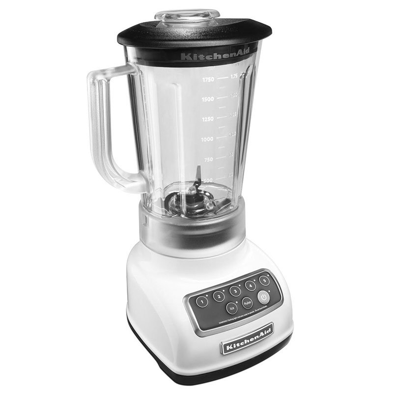 KitchenAid KSB1570 56-oz 5-Speed Countertop Blender - Control Panel w/LED Lights, White