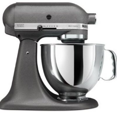 KitchenAid KSM150PSGR Artisan Series 5-Quart Mixer, 10 Speed, Imperial Gray