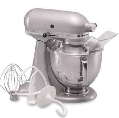 KitchenAid KSM150PSMC Artisan Series 5-Quart Mixer, 10 Speed, Metallic Chrome